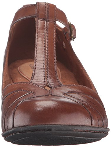 Cobb Hill Rockport Womens Angelina Robe Pompe, Amande, 8,5 W Us