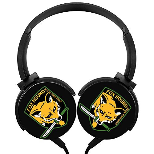 Rotation Axis Design Wired Headset Special Force Group Fox Hound Stereo Headphone