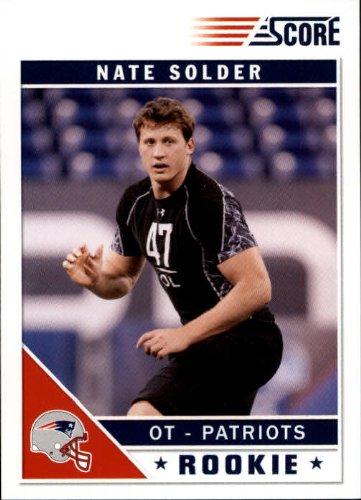 2011 Score Football Rookie Card #366 Nate Solder Near Mint/Mint
