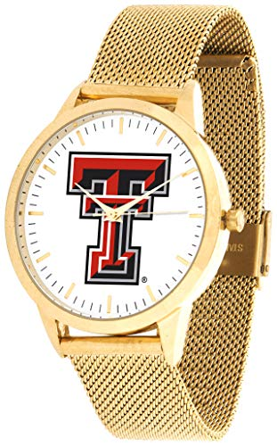 (Texas Tech Red Raiders - Mesh Statement Watch - Gold Band)