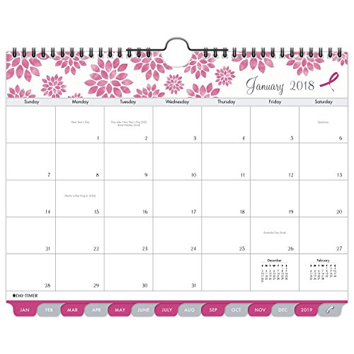 - Day-Timer Monthly Wall Calendar, January 2018 - December 2018, 11