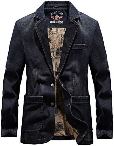 テーラード デニムジャケット メンズ 春 秋 服 テーラードジャケット 2つボタンアウター メンズ カジュアル ビジネス 大きいサイズ