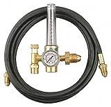 HRF-1425-580 Series Flowmeter Regulator, 0 to 50 psi, Argon, Carbon Dioxide