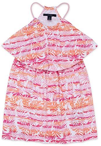 (Nautica Little Girls' Patterned Sleeveless Dress, Foliage Rose Pink, 6)