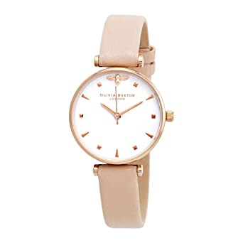 Olivia Burton - Reloj de pulsera para mujer, esfera blanca de abeja reina OB16AM95: Amazon.es: Relojes