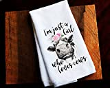 Just A Girl Who Loves Cows Kitchen Towel