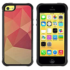 "Hypernova Defender Series TPU protection Cas Case Coque pour Apple iPhone 5C [Diseño Polgon Naranja""]"