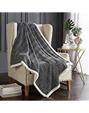 Dreaming Casa Sherpa Throw Blanket Fleece Bed Blanket Warm Soft Easy Care for Sofa Couch Chair Reversible Microfiber Solid Winter Spring Living Room 130 x 150cm