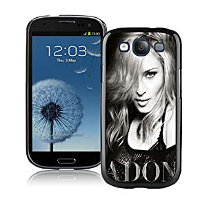 Galaxy S3 Case,Madonna Ciccone Black and White Black For Samsung Galaxy S3 i9300 Case WANGJING JINDA