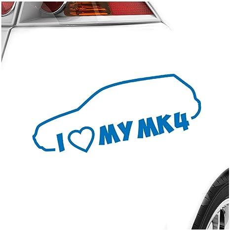 Kiwistar I Love My Mk4 20 X 8 Cm In 15 Farben Neon Chrom Sticker Aufkleber Auto