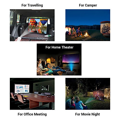 CHEERLUX Ultra Portable ProjectorTabletop Projection Screen 50'' 4:3 For DLP Projector , Mini Projector,Home and Office Business Meeting With Carrying Bag by Cheerlux (Image #2)