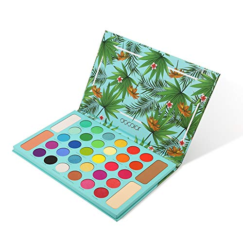 Tropical Eyeshadow Palette Docolor 34 Colors Makeup Eyeshadow Ultra Pigmented Powder Long Lasting