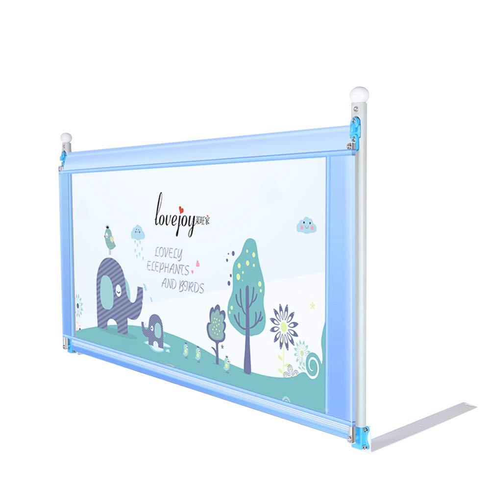 LYXPUZI Barrera de elevación Vertical para bebés y niños Cerca de la Cama Anti-caída Resistente a los Golpes barandilla de elevación Vertical (Tamaño : Blue-200cm)
