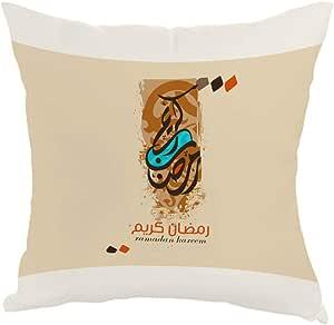 مخدة بطبعة رمضان كريم، قماش كانفس 40cm X 40cm