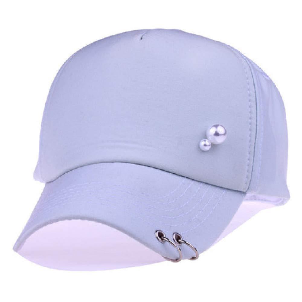 C JJYHN Adjustable hat, Women's Cotton hat Pearl Baseball Cap