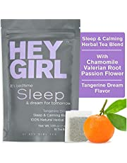 Sleep Aids Tea - Calming Anxiety Relief & Stress Relief Tea Blend -100% Natural Herbal Tea - No Melatonin and Non-Habit Forming - 45 g - 18 Tea Bags