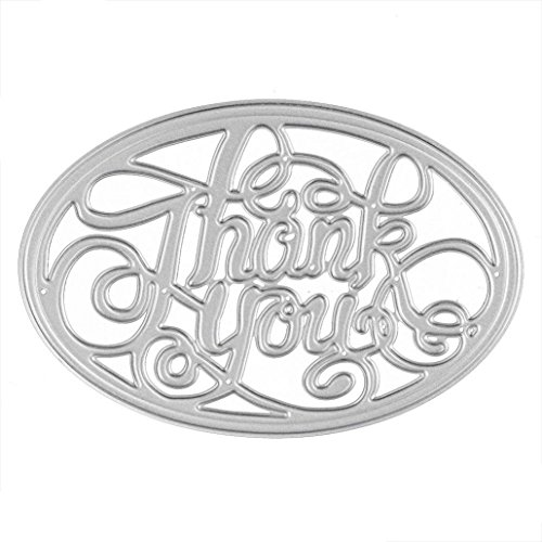 [Anboo Blessings Series Cutting Dies Metal Stencils Embossing For DIY Scrapbooking Album Paper Card Art Craft Gift (Thank You)] (New Prima Chipboard)