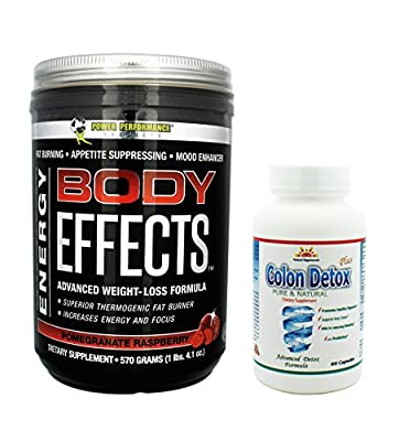 Body Effects Plus 1 Colon Detox, Pomegranate Raspberry,Pre Workout Ultimate Weight Loss, Fat Burning, Energy Boosting, Appetite Suppressing, Mood Enhancing and Muscle Defining