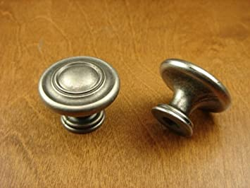 Sonoma Cabinet Hardware Nantucket Knob Antique Pewter NEW Kitchen Custom  Solid Knob Knobs