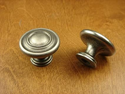 Sonoma Cabinet Hardware Nantucket Knob Antique Pewter NEW Kitchen Custom  Solid Knob Knobs