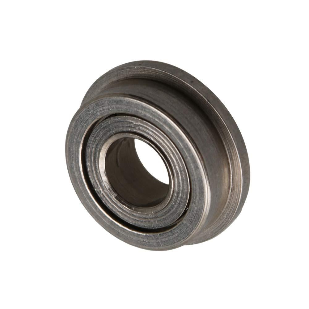 CNBTR Mini Silent Sliding Bearing 3x6x2.5mm MF63ZZ Flange Ball Bearings Reduce Friction Tool Pack of 10
