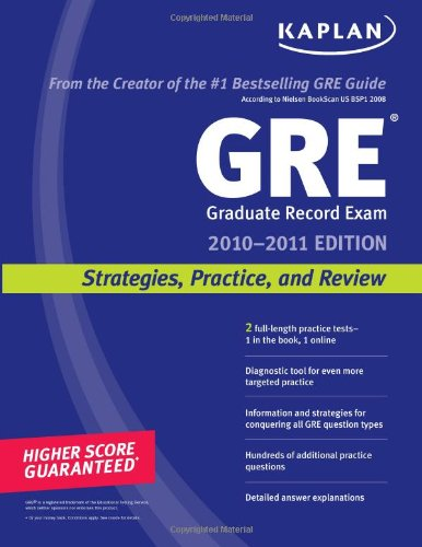 Pdf Test Preparation Kaplan GRE Exam 2010: Strategies, Practice, and Review