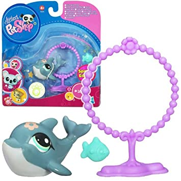 Littlest Pet Shop Special Edition Pet 1603 Dolphin With Hoop