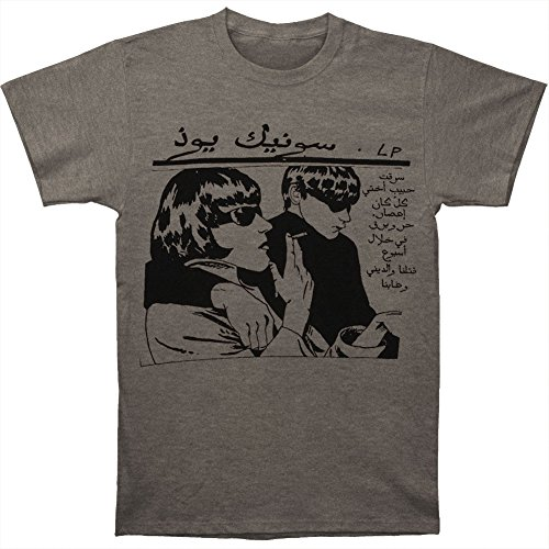 Sonic Youth Tee (Sonic Youth Men's Arabic Goo Slim Fit T-shirt Small Grey)