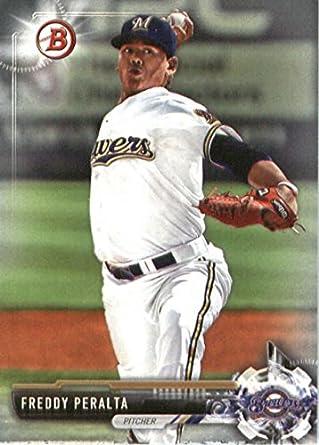 2017 Bowman Prospects #BP22 Freddy Peralta Milwaukee Brewers Baseball Card