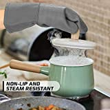 HOMWE Silicone Oven Mitts and Pot Holders with