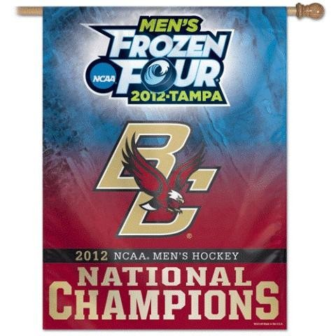Minnesota Golden Gophers 2012 NCAA Men's Frozen Four Champions Vertical Flag: 27x37 Banner