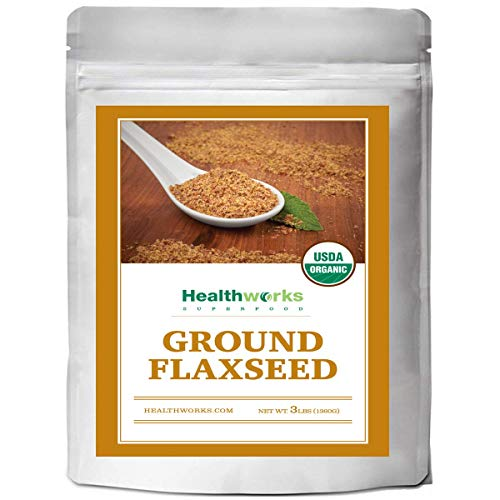 Healthworks Flaxseed Ground Organic ColdMilled 3LB