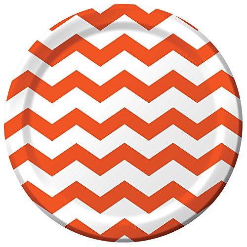 Darice Chevron Sunkissed Orange Plates