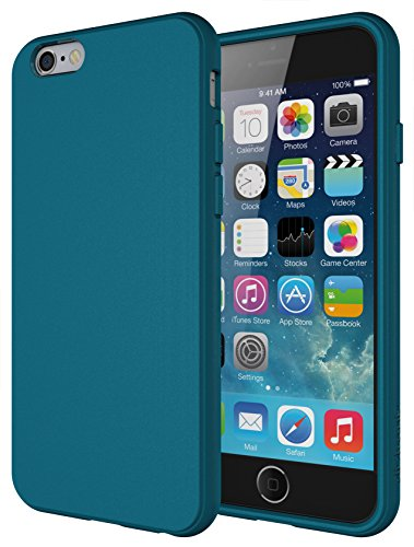 Diztronic iPhone 6s Case, Full Matte Soft Touch Slim-Fit Flexible TPU Case for Apple iPhone 6 & iPhone 6s (4.7) - Teal Blue