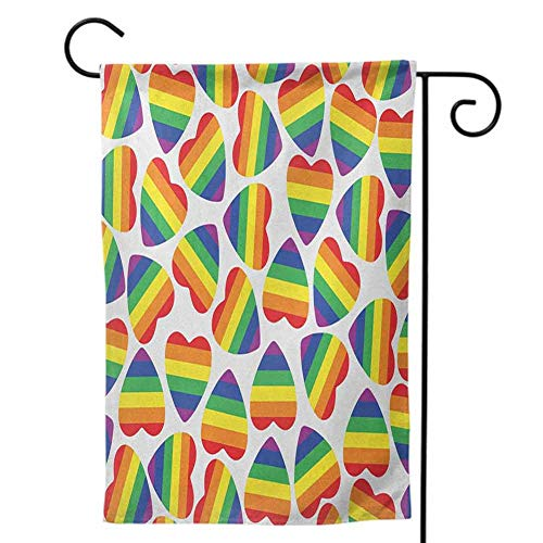 Party Galaxy Okc (Mannwarehouse Welcome Decorative Garden Flags, for Party Yard Wall Outside Door Double Sided Colorful Design for Holiday Seasonal Pride Multicolor12 x18)