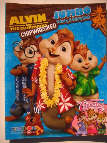 Alvin & the Chipmunks - Chipwrecked Jumbo Coloring & Activity Book (Featuring the Chipettes)