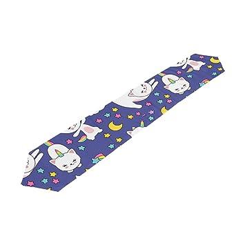 Amazon.com: Camino de mesa para comedor, diseño de gatos ...