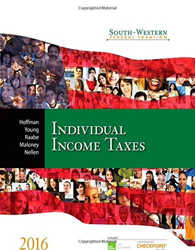 South Western Federal Taxation 2016  Individual Income Taxes  West Federal Taxation  Individual Income Taxes