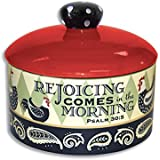 Divinity Boutique 23858 Rooster Sugar Bowl with Lid, Multicolor