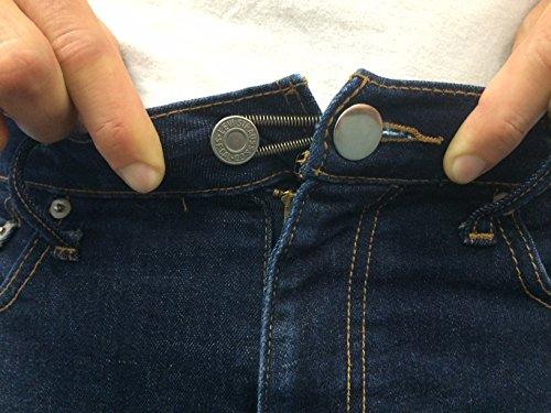 25 Pack Waistband Extender Set 5 X White Button 5 X
