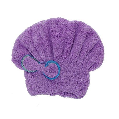 Anself Microfiber Dry Hair Hat Head Wrap Turban Quickly Dry Hair Hat Wrapped Towel Bathing Cap