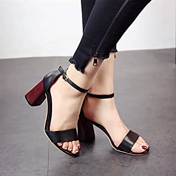 d82d55f805f77 YMFIE Ladies  dita tacchi alti sandali estivi tacchi quadrata alta moda  scarpe e tacchi alti.  Amazon.it  Sport e tempo libero