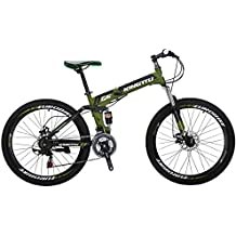 "EUROBIKE Mountain Bike G6 26"" 21 Speed Folding Bike"