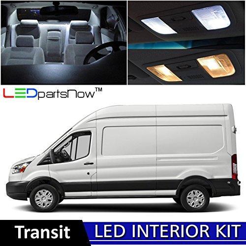Ford Xlt Van (LEDpartsNow 2013-2018 Ford Transit LED Interior Lights Accessories Replacement Package Kit (12 Pieces), WHITE)