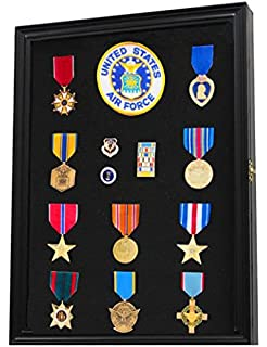 Amazon.com : XS Display Case Cabinet Box for Military Medals Pins ...