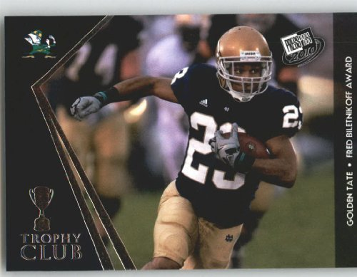 Golden Tate - Notre Dame (Trophy Club)(Rookie Year Card) 2010 Press Pass NFL Draft ()