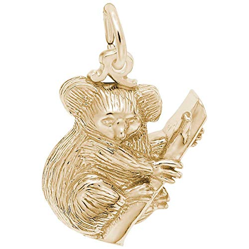 Rembrandt Charms Koala Bear Charm, Gold Plated Silver