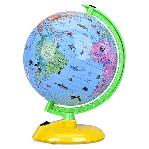 Illuminated Desk Globe - Illuminated World Globe for Kids, 8