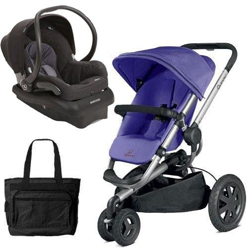 Quinny Buzz Xtra Travel System in Purple Black with Diaper ()