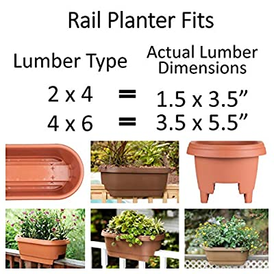 Bloem 010286 DR2400 Deck Rail Planter, Balcony 24